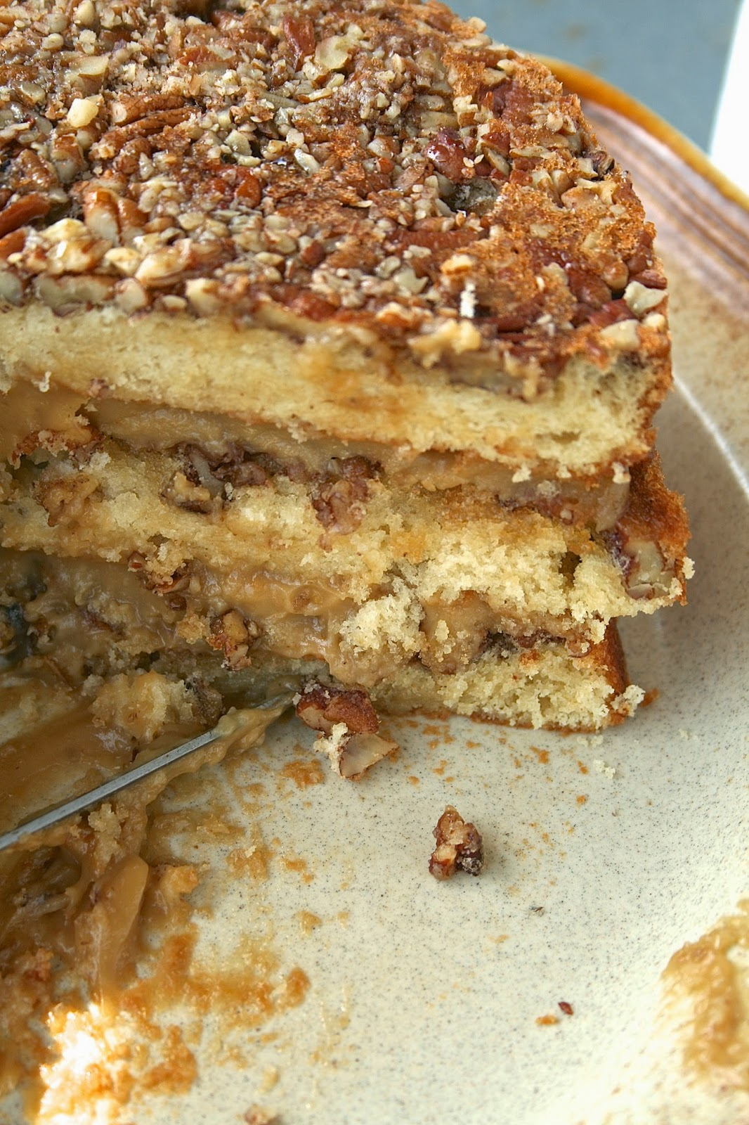 Oregon Transplant: Pecan Pie Cake
