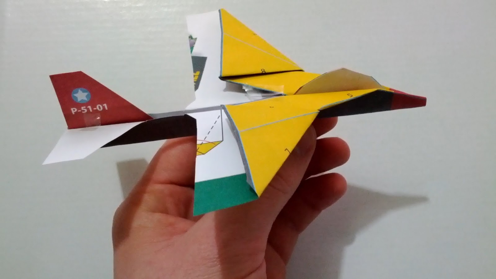 Origami Instructions Paper Air Plane P 51 Mustang Download Plain