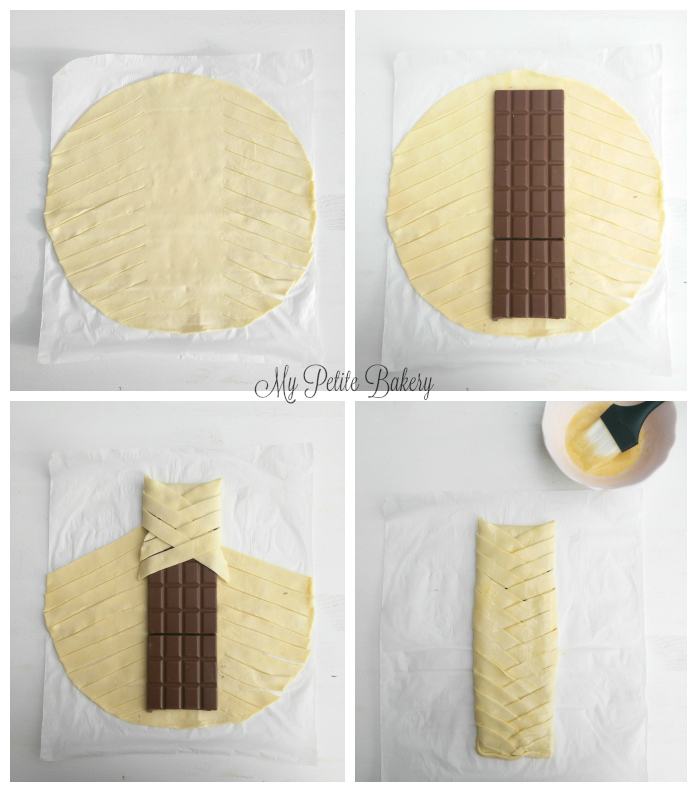 Trenza hojaldrada de Chocolate