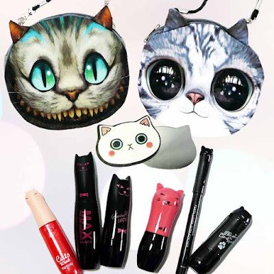 Mascara chat, Rouge à lèvres chat et eyeliner chat Nekoland