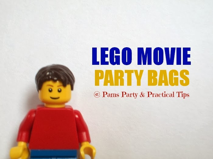 make your own LEGO movie party bags