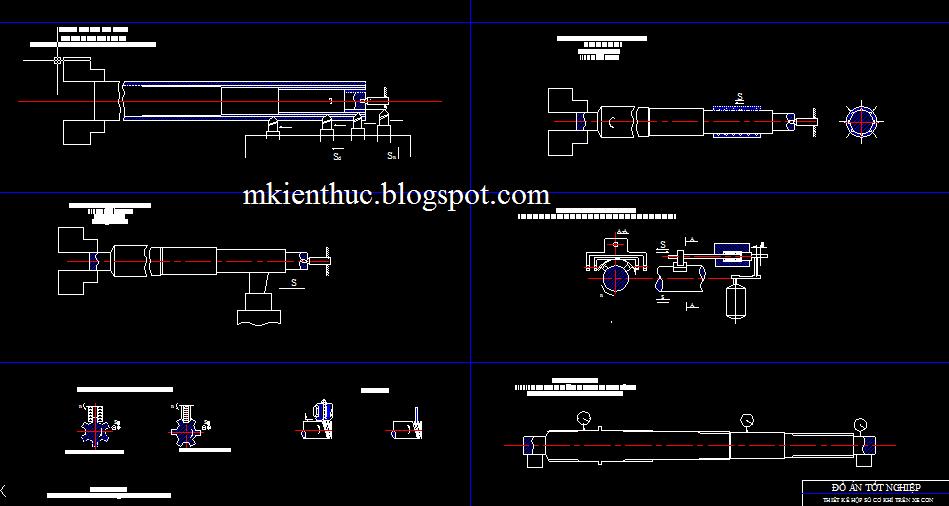 Bản vẽ đồ án tính toán thiết kế hộp số cơ khí trên xe con