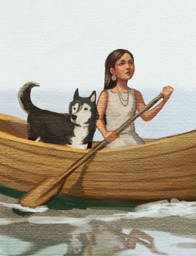 Kelley McMorris illustration: Island of the Blue Dolphins ...