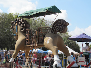 Giant Rocking Horse Ride at the Renaissance Festival Florida