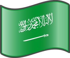 Saudi Arabia wavy flag — WikiProject Nuvola, in the public domain