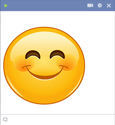 Big happy emoji for Facebook