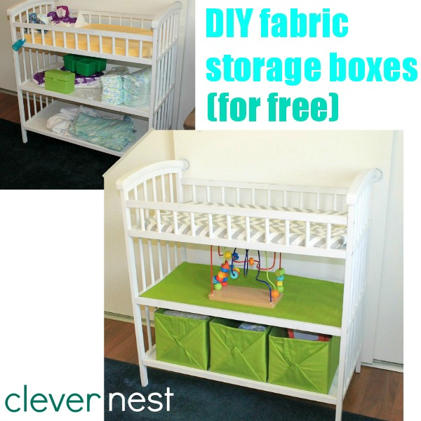 Clever Nest No Sew Fabric Storage Bins For Free Baby Room Baskets Designs
