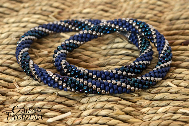 Toho 8o Metallic Nebula, Nickel oraz Semi Glazed - Navy Blue