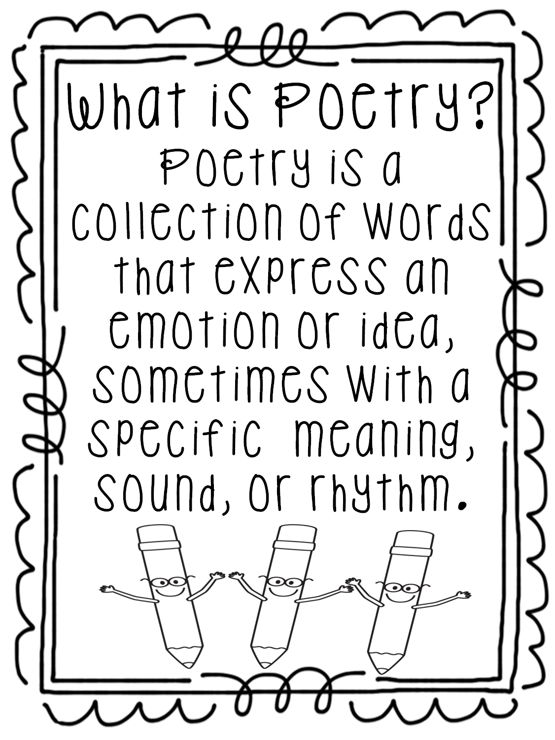 It is an image of Revered Poetry Coloring Page