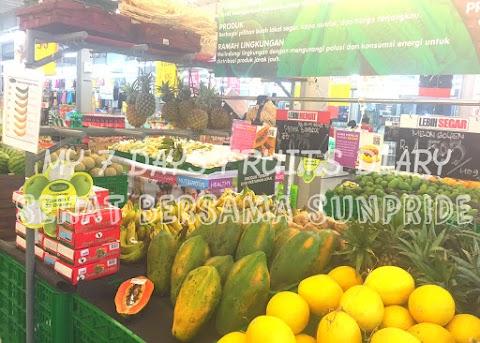 My 7 Days Fruits Diary : Sehat Bersama Buah Sunpride