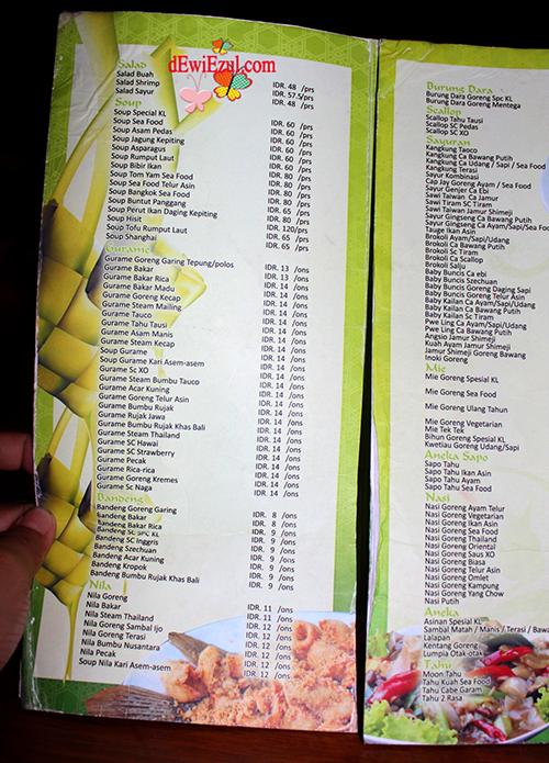 menu di kampung laut semarang, harga makanan di kampung laut semarang
