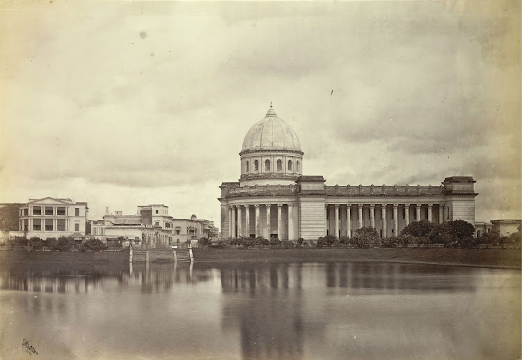 Lall Dighi and General Post Office (GPO) - Calcutta (Kolkata) 1875