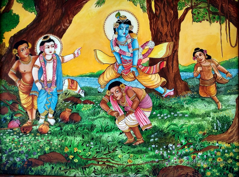 Bal Krishna - Paintings in ISKCON Temple, Chennai
