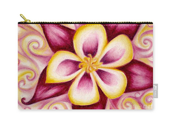 Columbine Flower Pouch by Aquariann