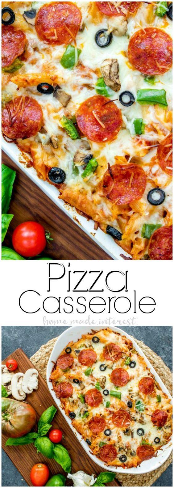 Pizza Casserole #PIZZA