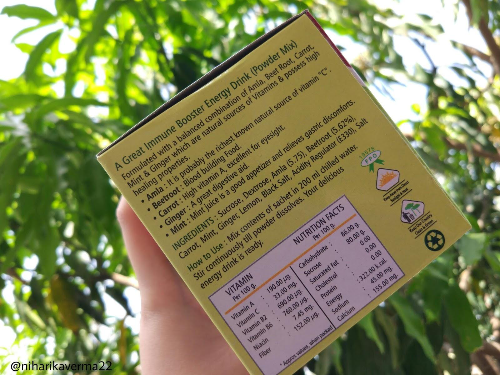 Vedantika Herbals - Panchamrita Instant Energy Drink 4