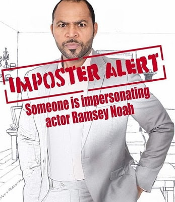 fraudster used ramsey nouah name movie role