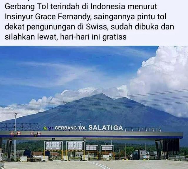 Gerbang Tol Terindah di Indonesia Ada di Salatiga, Bikin Bangga!