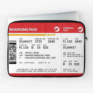 Boarding Pass Laptop Sleeve