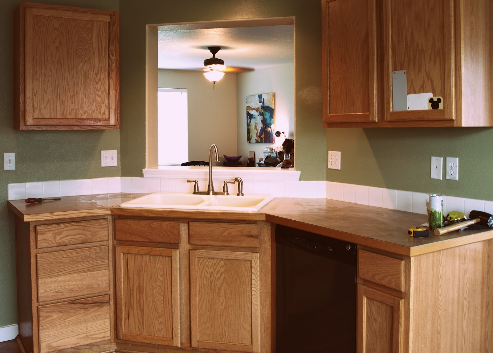 painted granite countertops tutorial cheap kitchen countertops Painted Granite Countertops Tutorial