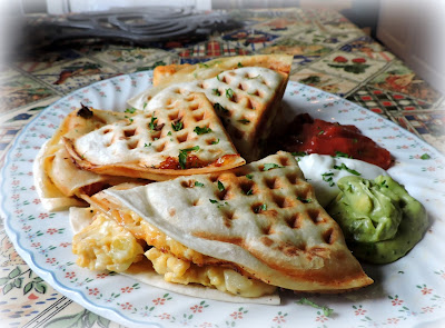 Breakfast Waffle Quesadillas