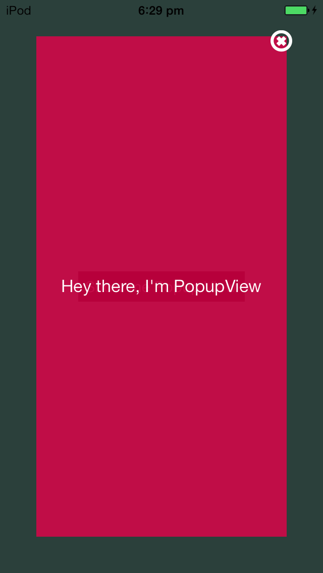 iOS TutorialKit: How to create Popup view in iOS using