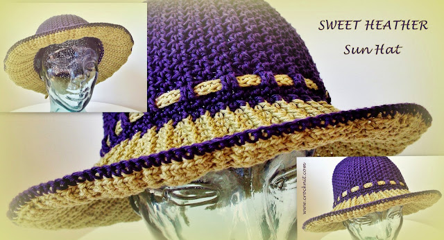 Sun Hat Crochet Pattern Short Long Brim