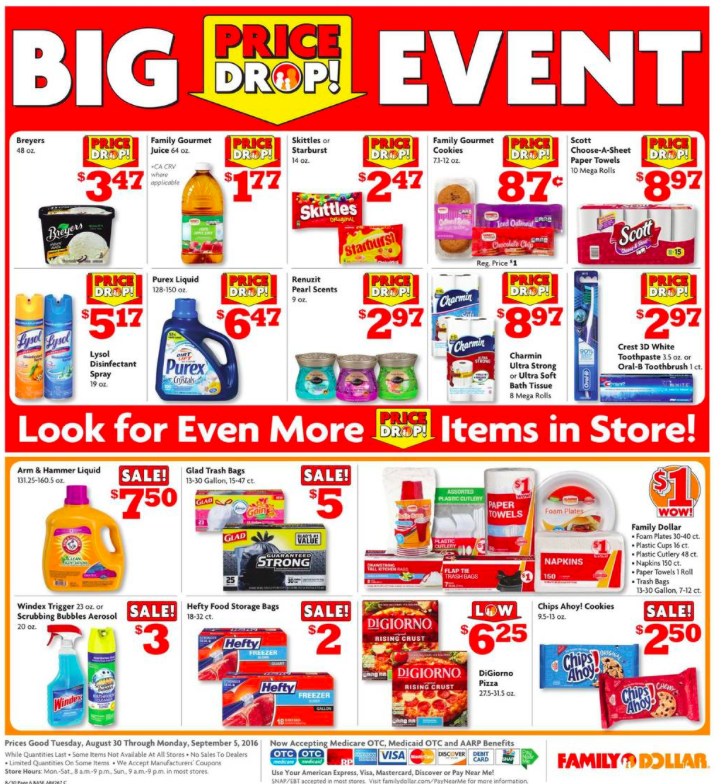 Family Dollar Weekly Ad 8/30-9/5/16