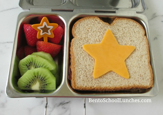 Kids star simple bento lunch