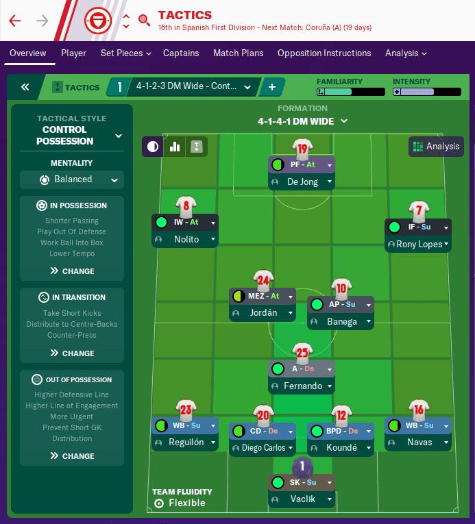 FM20 Sevilla Tactic
