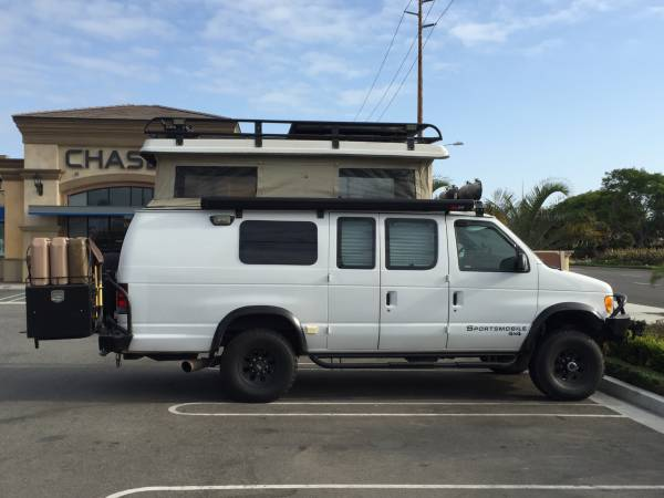 used rvs 2002 ford e350 sportsmobile 4x4 camper for sale by owner. Black Bedroom Furniture Sets. Home Design Ideas
