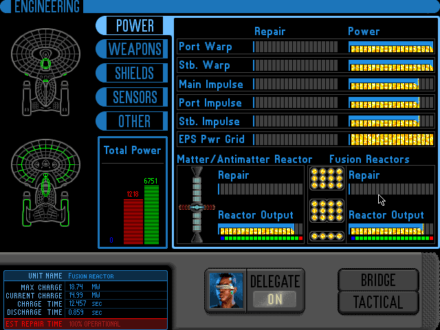 Star Trek A Final Unity Engineering screen