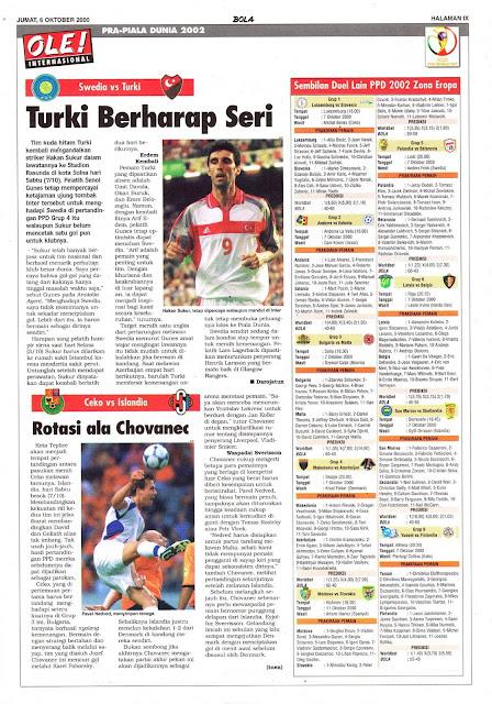 WORLD CUP 2002 QUALIFIER SWEDEN VS TURKEY