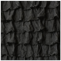 Black Ruffle Shower Curtain