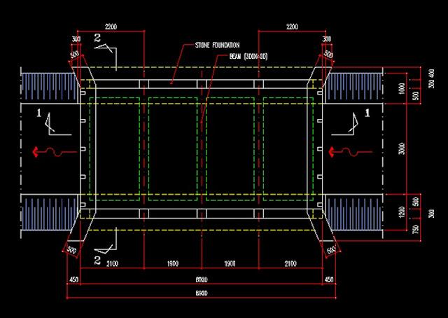 Gambar Kerja Desain Jembatan File Dwg  Kaula Ngora
