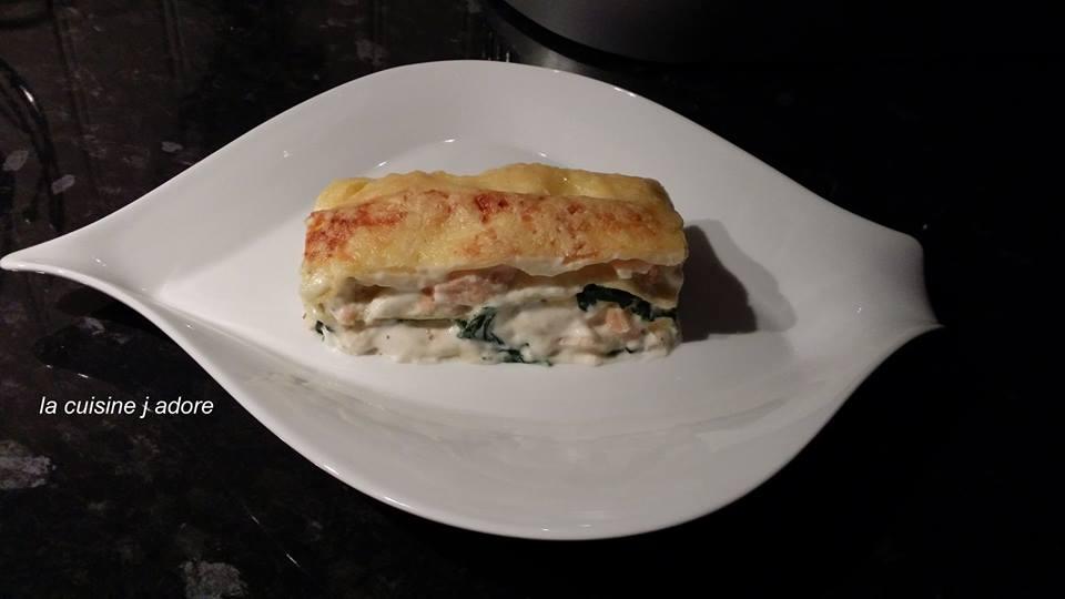 La Cuisine J Adore Lasagne Au Saumon Et Aux Epinards Recette De