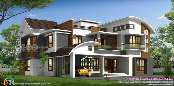 3715 sq-ft 5 bedroom contemporary house