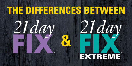 21 day fix and extreme difference