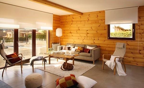 d coration salon des murs en bois d coration salon d cor de salon. Black Bedroom Furniture Sets. Home Design Ideas