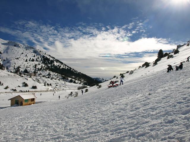χιόνια-παιδιά-ορεινή-Αρκαδία