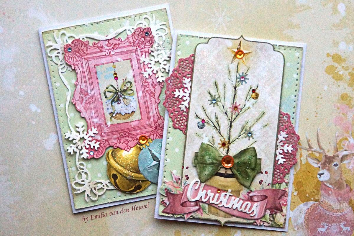 Bobunny A Festive Christmas Card Duo Featuring Carousel Christmas