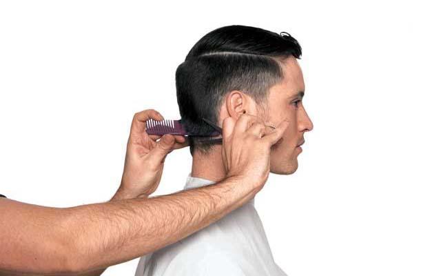 ilustrasi cukur rambut