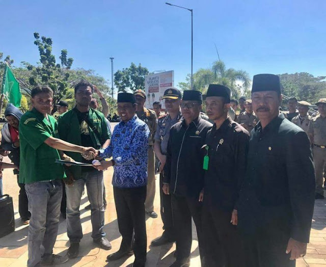 GP Ansor Dan PMII Sumbawa Barat Gelar Aksi Damai Dukung Perppu 2/2017