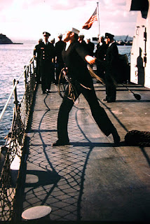My Grandpa on a United States Navy ship