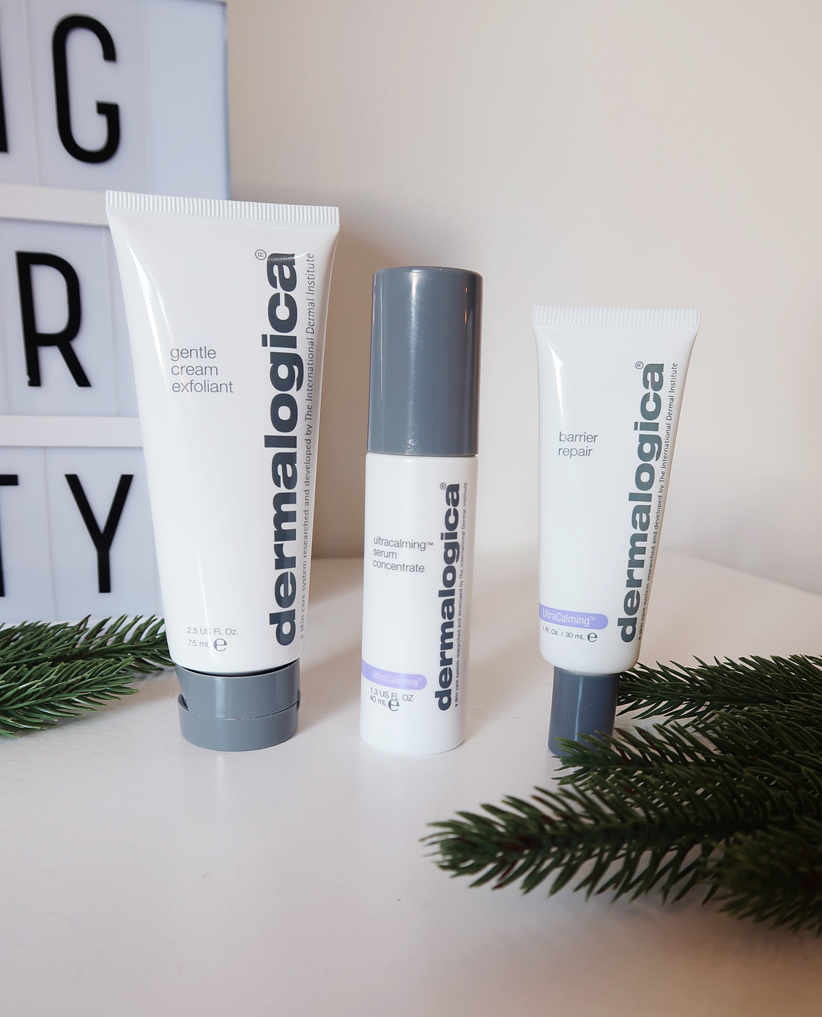 Dermalogica gentle gream exfoliant ultacalming serum concentrate barrier repair