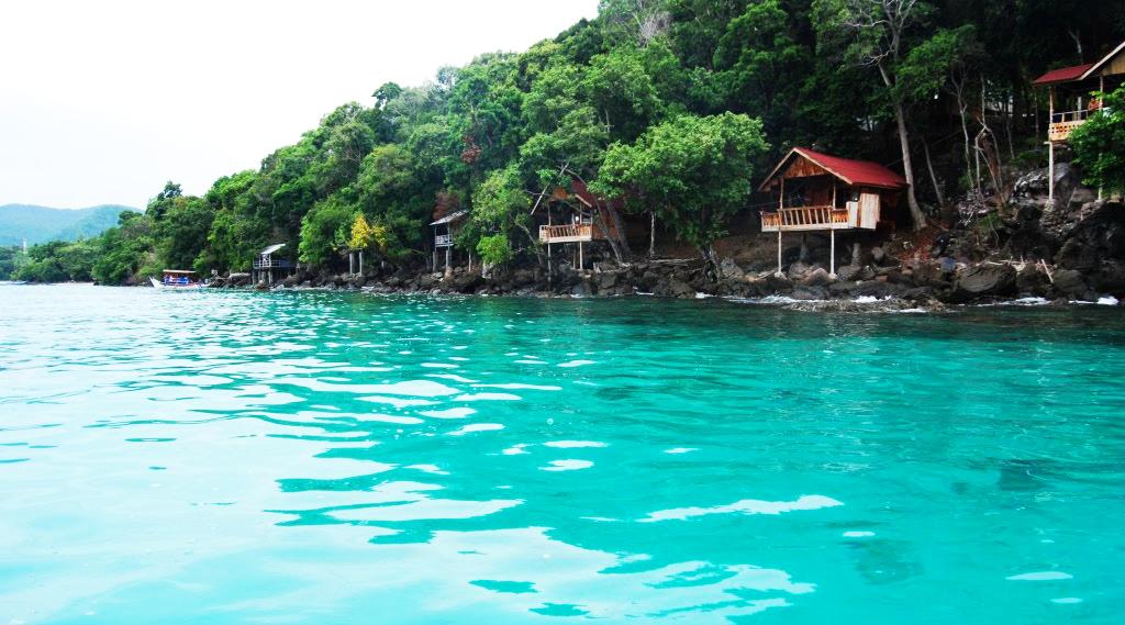 Pulau Rubia cantik dan keren di pulau Rubiah Indonesia cantik dan amnis warisan wisata alam bawah laut