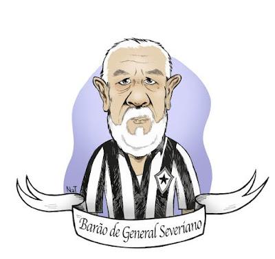 O Barão criando confusão na fila do jogo do Botafogo