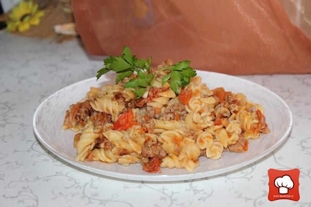 рецепт макарон с фаршем
