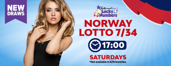 Norway 7/34 Lotto - Lucky Numbers - Hollywoodbets - New Draw - Beautiful Blonde Woman - Lotto