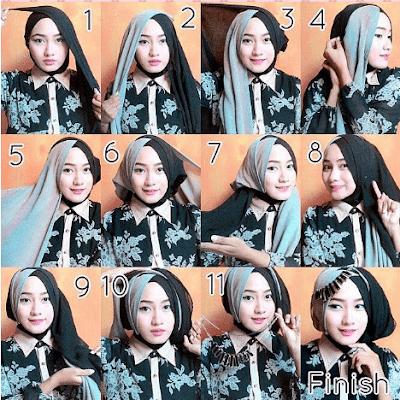 Tutorial Hijab Turban Elegan untuk Kebaya dan Wisuda